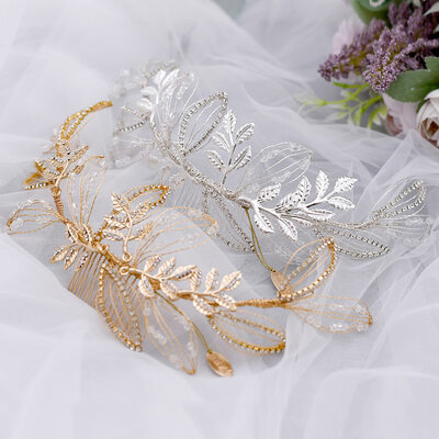 Ladies Gorgeous Crystal/Rhinestone/Alloy Combs & Barrettes With Rhinestone/Crystal (Sold in single piece)