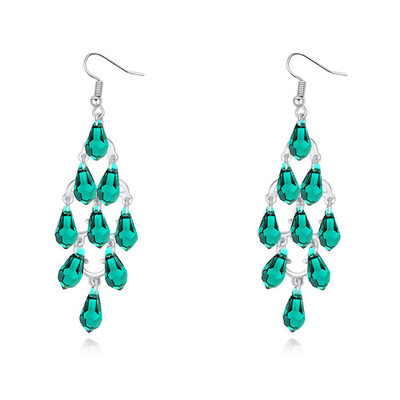 Ladies' Beautiful Alloy/Platinum Plated With Pear Austrian Crystal Earrings For Bridesmaid/For Friends