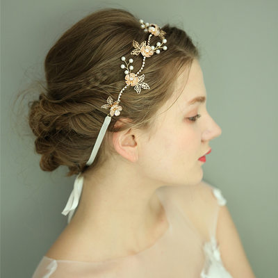 Ladies Gorgeous Imitation Pearls Headbands With Venetian Pearl (Sold in single piece)