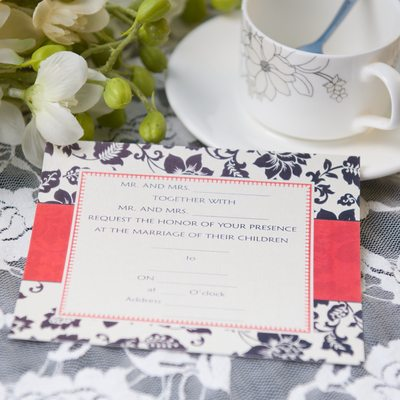 Klassisk stil Flat Card Invitation Cards