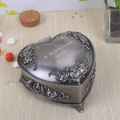 Bridesmaid Gifts - Personalized Classic Elegant Alloy Jewelry Box