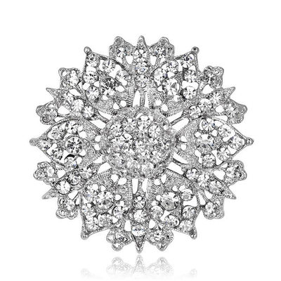 Romantic Alloy/Rhinestones With Rhinestone Ladies' Brooch