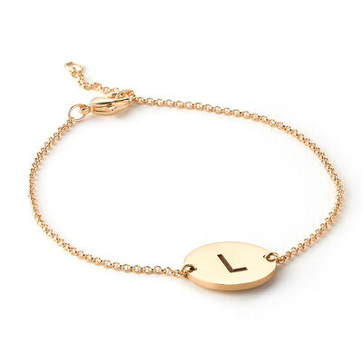 Christmas Gifts For Her - Custom 18k Gold Plated Sterling Silver Delicate Chain Name Bracelets Initial Bracelets