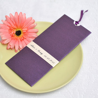 Personalized Vintage Style Wrap & Pocket Invitation Cards (Set of 50)