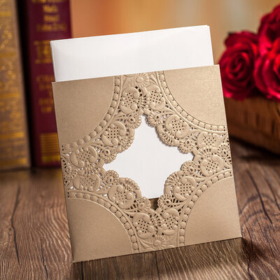 Personalized Side Fold Invitation Cards