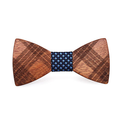 Classic Modern Wood Bow Tie