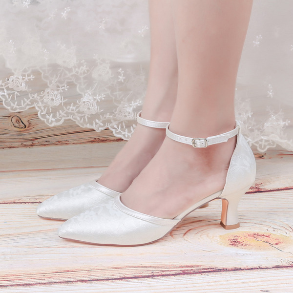 Women's Lace Low Heel Pumps With Lace-up