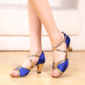 Women's Leatherette Sparkling Glitter Heels Latin With Buckle Sequin Dance Shoes