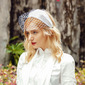Ladies' Elegant/Charming Linen With Tulle Fascinators/Tea Party Hats