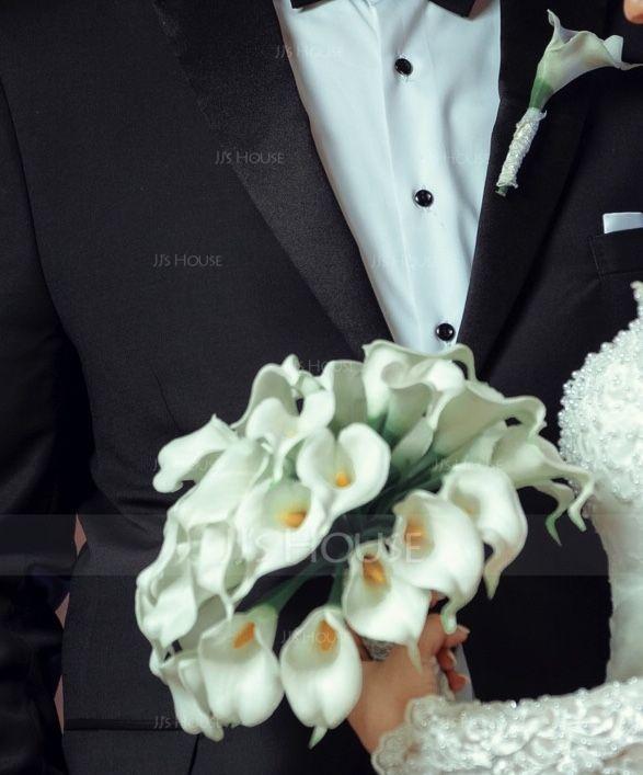 Simples et élégant Rond PE/Dentelle Sets de fleurs - Boutonnière/Bouquets de mariée (123069405)