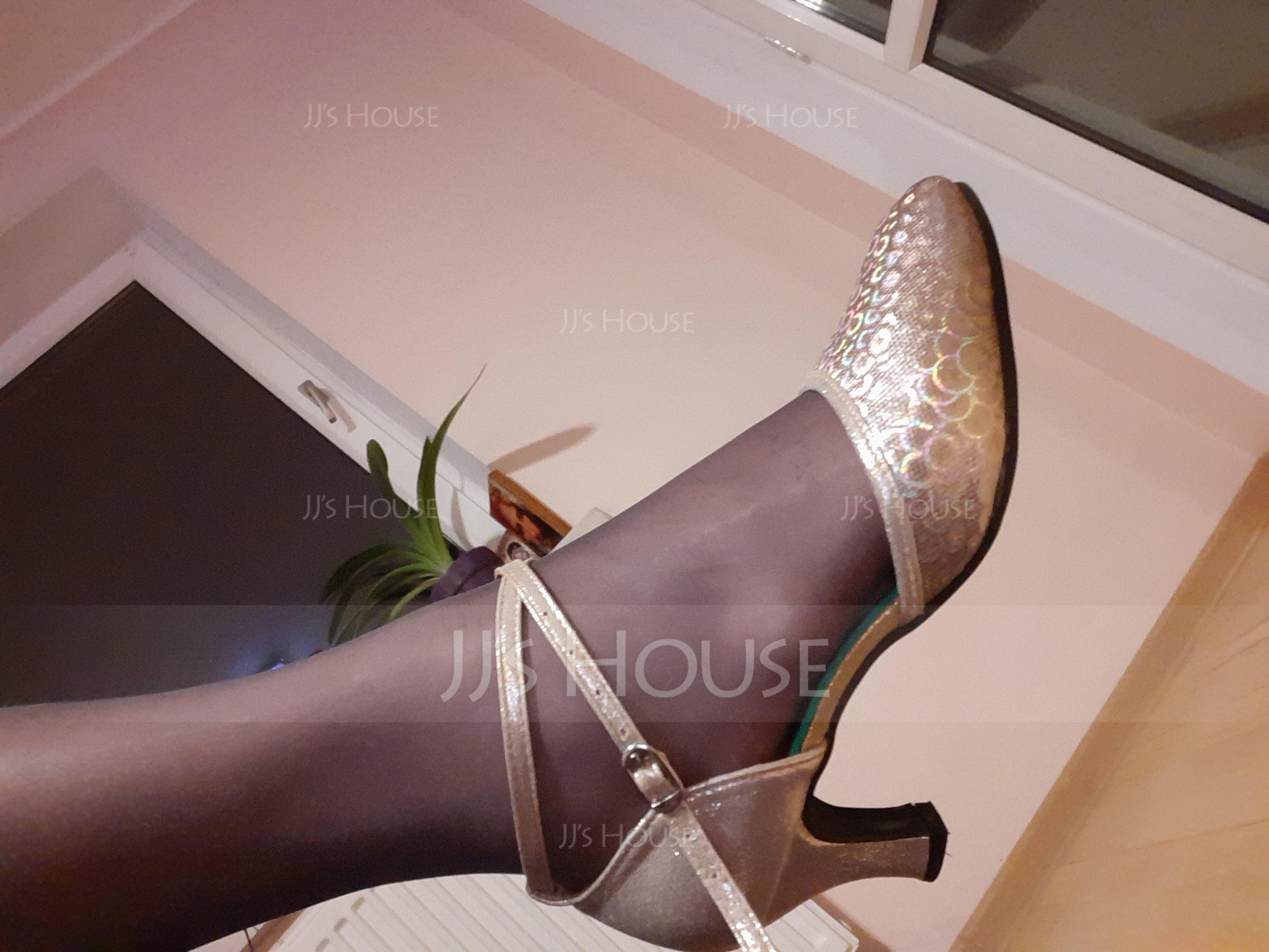 Women's Leatherette Heels Ballroom Swing Dance Shoes